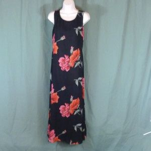 Coldwater Creek Small Print Dress Blue Floral Line